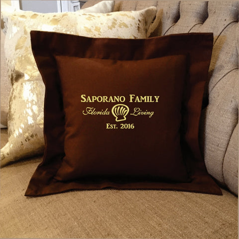 Beach House Personalized Embroidered Pillow Gift | Forever Pillows