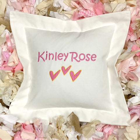Modern Hearts Pillow