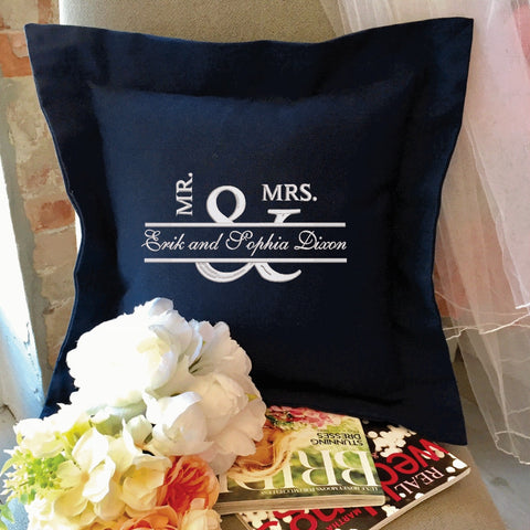 Wedding Mr. & Mrs. Style Pillow