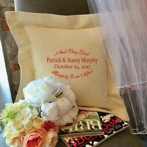 Personalized Wedding Pillow Gift | Forever Pillows