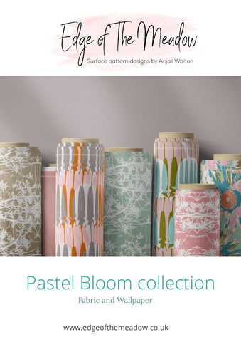 Pastel bloom look book for fabrics and wallpapers