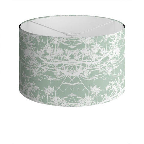 Star Vine Mint Drum Lamp Shade
