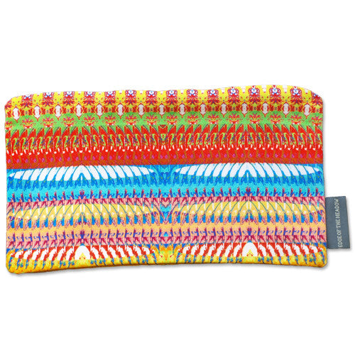 Online Boutique. This pencil case or make up bag, features a print of striking geometric reflections in a chic earthy colour palette, with a chunky zip fastening. Funky storage