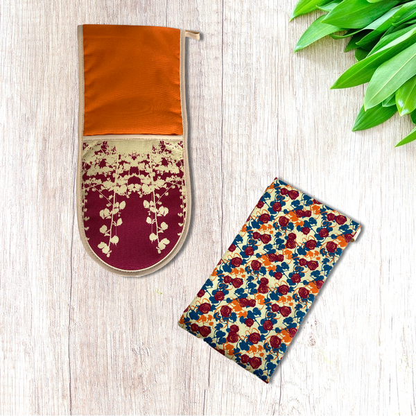Sienna Leaf Oven Gloves