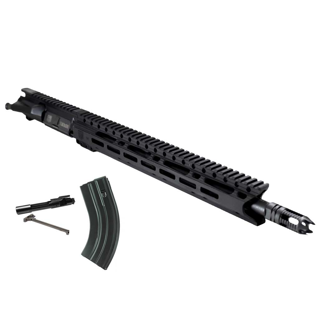 "Upper Assembly 16""  7.62x39  Elite with 15"" M-LOK Rail, Black-WITH BCG, CH AND MAG"