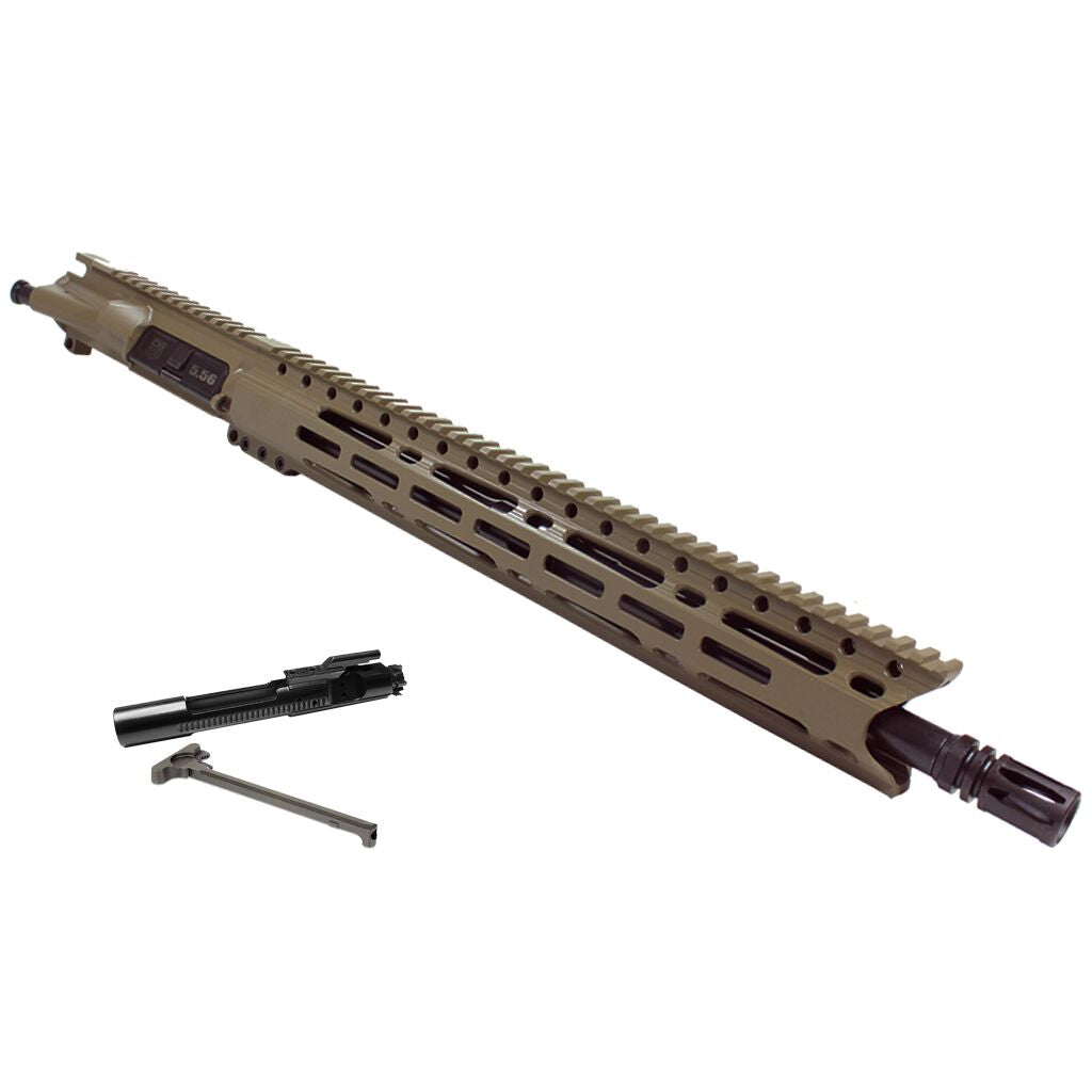 "Upper Assembly .223/5.56 16"" Elite with 15"" M-LOK Rail, Flat Dark Earth - WITH AZIMUTH BCG & CH"