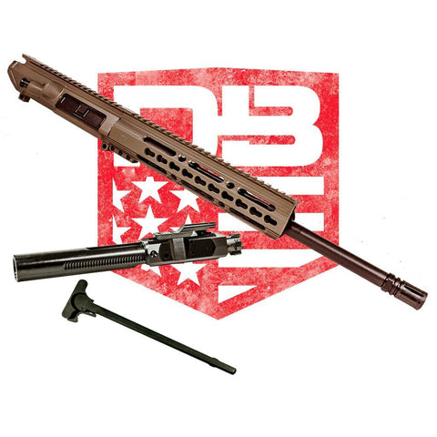 "Upper Assembly 16"" .308 Mid Length with 10"" CKM Rail, Flat Dark Earth WITH BCG & CH"