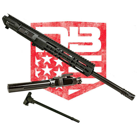 "Upper Assembly 16"" .308 Mid Length with 10"" CKM Rail, Black WITH BCG & CH"