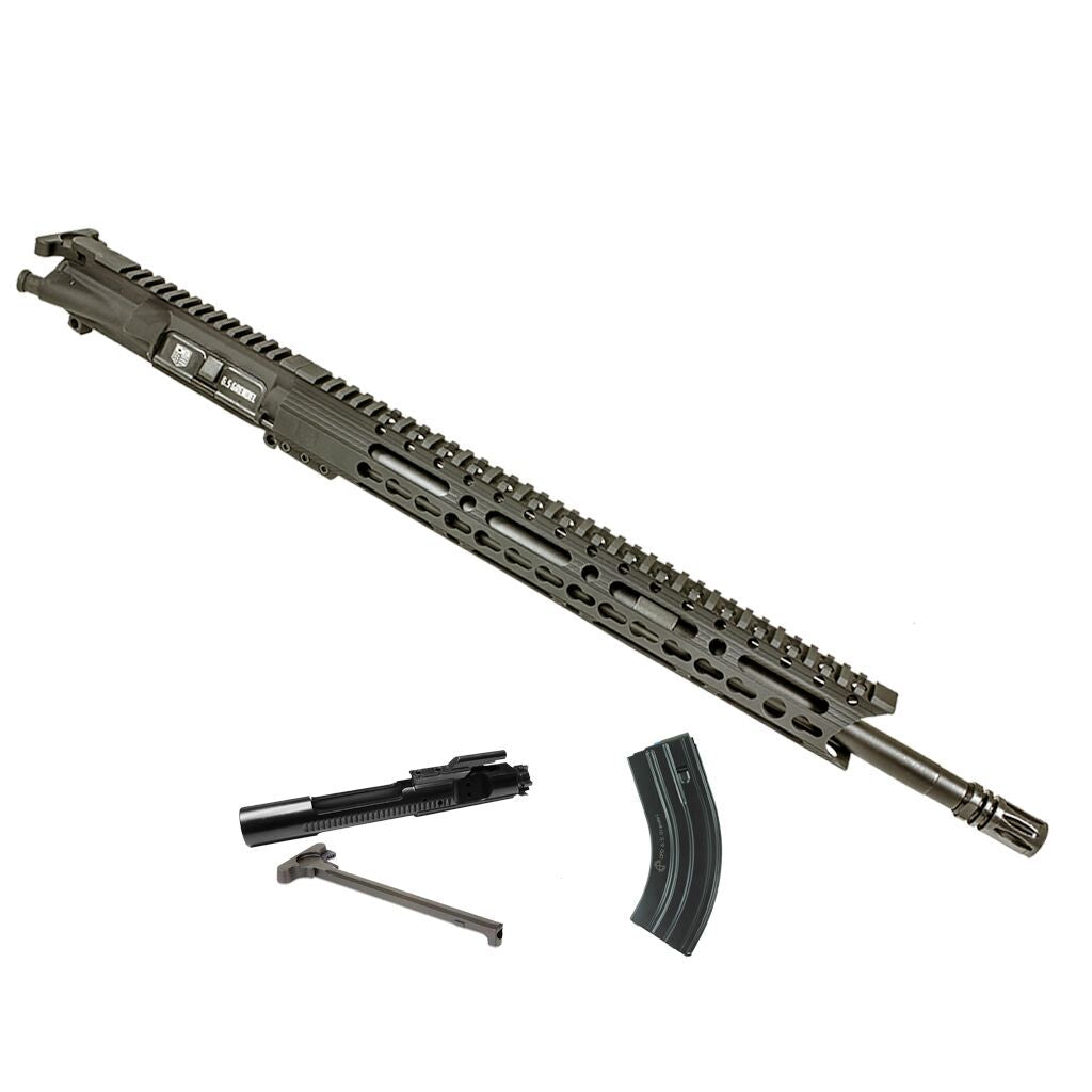 "Upper Assembly 18"" 6.5 Grendel with 15"" Keymod Rail, Black WITH AZIMUTH BCG, CH AND MAG"
