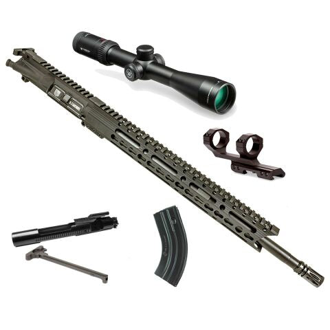 "*BUNDLE* Upper Assembly 18"" DB15 6.5 Grendel Elite With 15"" Keymod Rail, Black AND Vortex Viper HS HS 2.5-10X44 Rifle Scope"