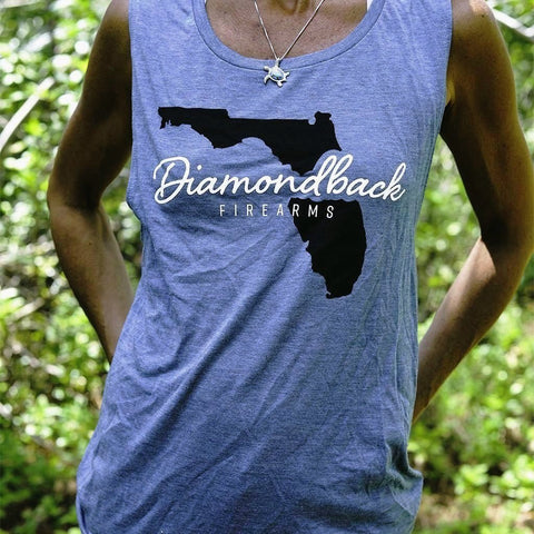 DB Ladies Dusty Blue Florida Muscle Tank