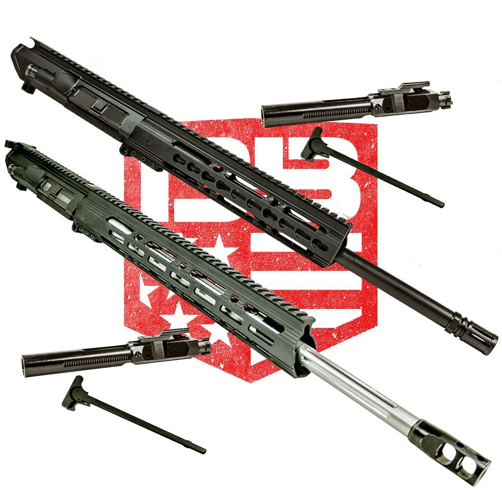 "BUNDLE Upper Assemblies 20"" 6.5 Creedmoor With 15"" Keymod Rail AND  16"" 308 with 10""CKM handguard , Black (Includes BCG and CH with each)"