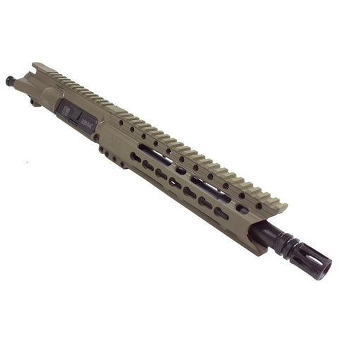 "Upper Assembly 10.5"" 300 Blackout  with 9.5""  Rail, Flat Dark Earth- INCLUDES AZIMUTH BCG AND CH"