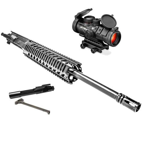 "*BUNDLE* Upper Assembly 16"" DB15 2.23/5.56 Elite With 10"" Quad Rail, Black AND Vortex Spitfire 3x Prism Scope"
