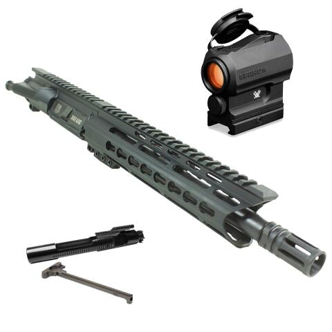 "*BUNDLE* Upper Assembly 10"" DB15 300 Blackout With 9"" Keymod Rail, Black AND Vortex Sparc AR Red Dot"