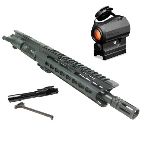 "*BUNDLE* Upper Assembly 10"" DB15 2.23/5.56 With 9"" Keymod Rail, Black AND Vortex Sparc AR Red Dot"