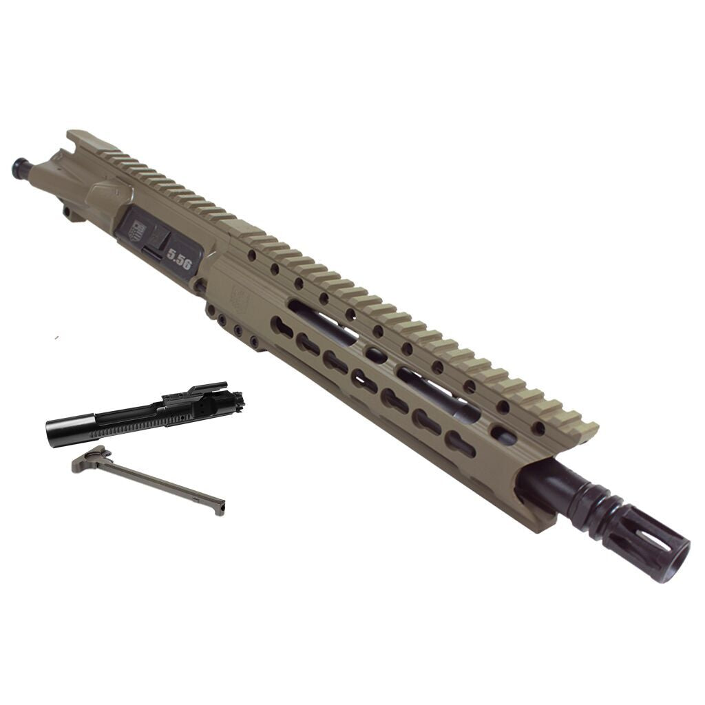 "Upper Assembly 10.5"" 5.56  with 9.5""  Rail, Flat Dark Earth-INCLUDES AZIMUTH BCG AND CH"