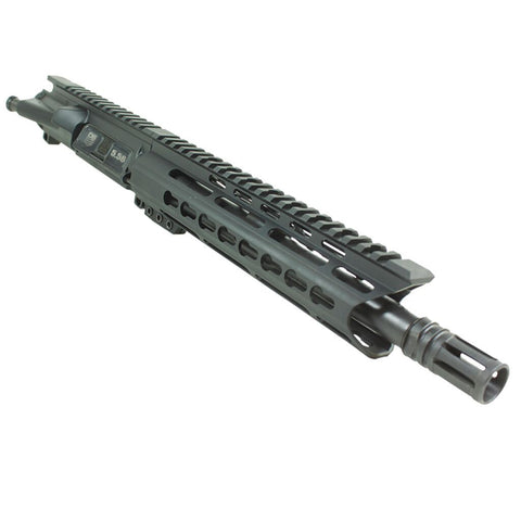 "BUNDLE Upper Assembly 10.5"" 5.56  with 9.5"" C Rail, Black with Azimuth BCG, CH, & Pistol Lower Build Kit"