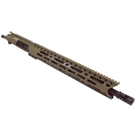 "Upper Assembly .223/5.56 16"" Elite with 15"" M-LOK Rail, Flat Dark Earth-No BCG or CH"