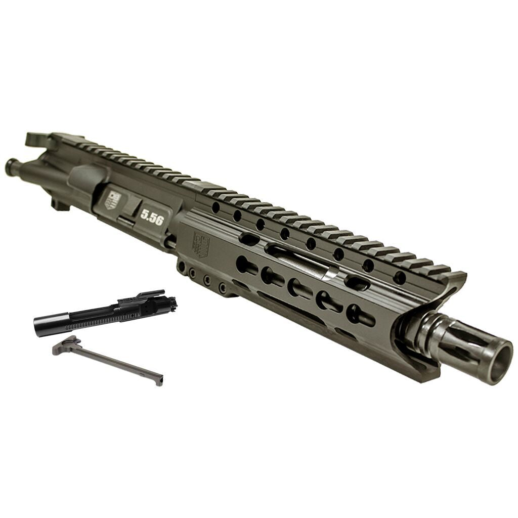 "Upper Assembly, 7.5"" 5.56 with 6"" Keymod C Rail, Black-WITH AZIMUTH BCG AND CH"