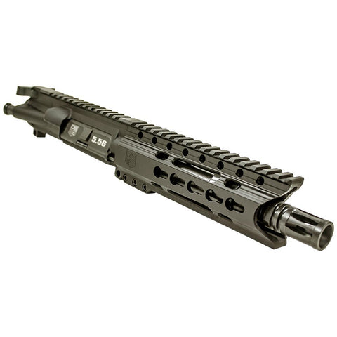 "Upper Assembly, 7.5"" 5.56 with 6"" Keymod C Rail, Black-No BCG or CH"