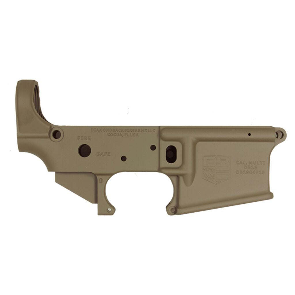 BLEMISHED DB15 223/556/300 Blackout Rifle Lower, Flat Dark Earth, Stripped No Magazine.......MUST PROVIDE A VALID FFL