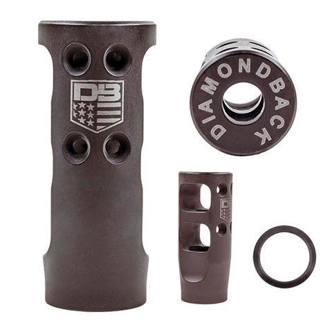 BLEMISHED DB10/DB15300 Blackout/6.5 Creedmoor Muzzle Brake, SMALL w/ Crush Washer