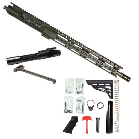 "BUNDLE: Upper Assembly 16"" 300 Blackout  with 15"" Elite Keymod Rail, Black WITH AZIMUTH BCG, CH & RIFLE LOWER BUILD KIT"