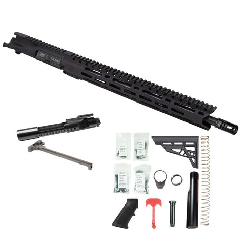 "BUNDLE: Upper Assembly 16"" .223/5.56 Elite with 15"" M-LOK Rail, Black WITH AZIMTUH BCG, CH & RIFLE LOWER BUILD KIT."