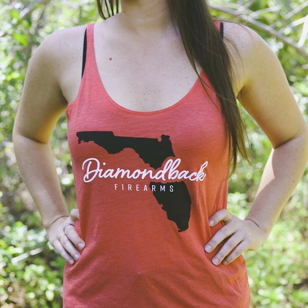 DB Ladies Red Triblend Florida Flowy Tank