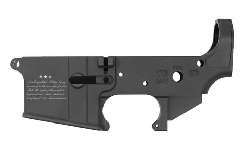 DB15 223/556/300 Blackout Limited Edition Lasered 2ND AMENDMENT Stripped Rifle Lower,  Black, No Magazine.......MUST PROVIDE A VALID FFL
