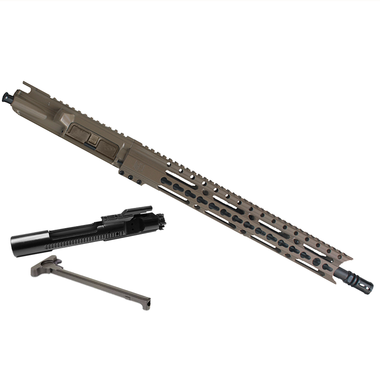 "Upper Assembly .223/5.56 16"" Elite with 15"" Keymod Rail, Flat Dark Earth WITH AZIMUTH BCG & CH"