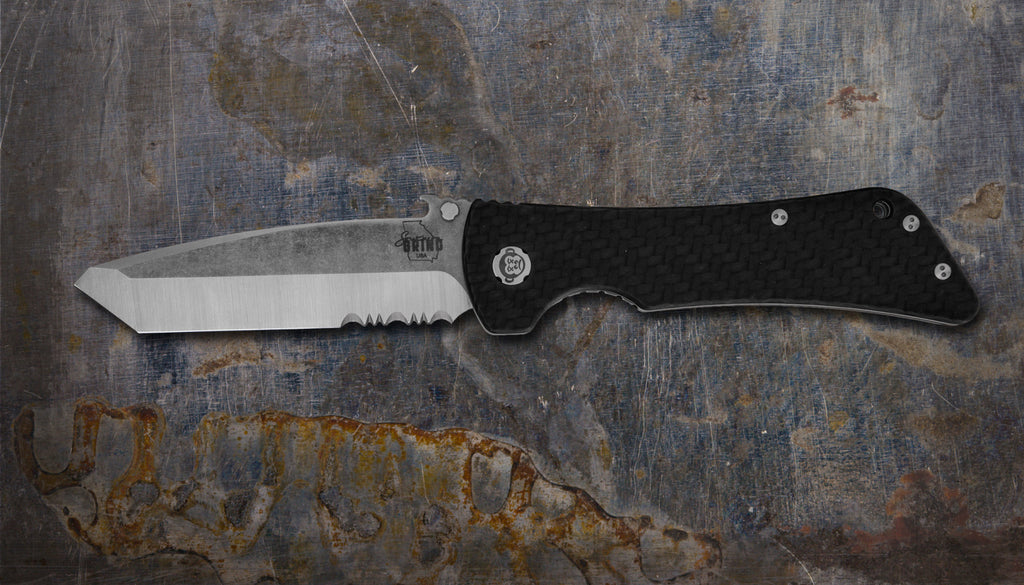 Zac Brown's Southern Grind Bad Monkey Emerson Tanto Satin Serrated w/ Carbon Fiber Handle
