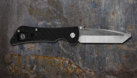 Zac Brown's Southern Grind Bad Monkey Emerson Tanto Satin w/ Carbon Fiber Handle