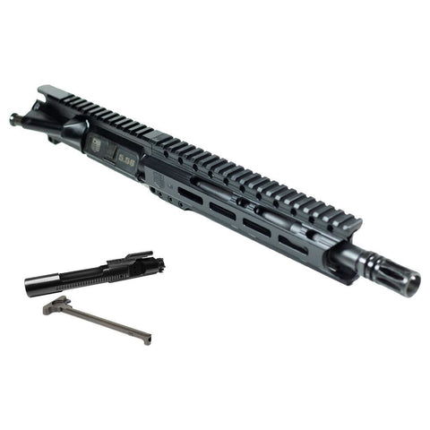 "Upper Assembly 10.5"" 5.56  with 9.5"" M-LOK Rail, Black with AZIMUTH BCG & CH"