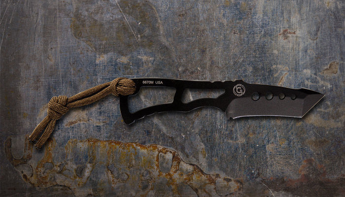 Zac Brown's Southern Grind Vermin (Rat) Tanto Black w/ Black Kydex Sheath