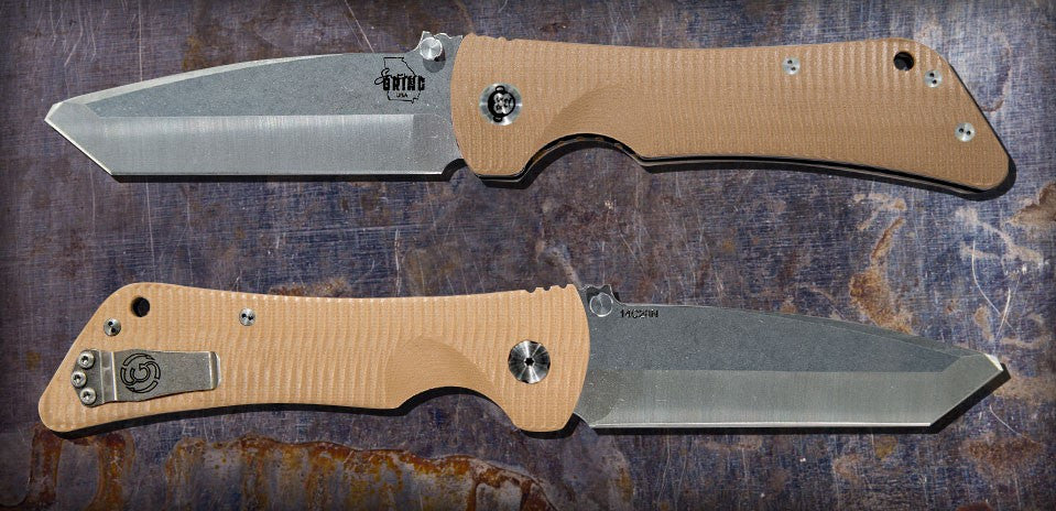 Zac Brown's Southern Grind Bad Monkey Tanto Satin w/ Desert Tan Handle