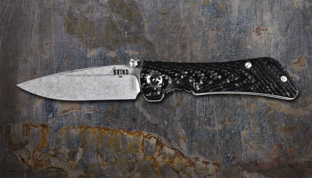 Zac Brown's Southern Grind Spider Monkey Drop Point Satin w/ Carbon Fiber Handle