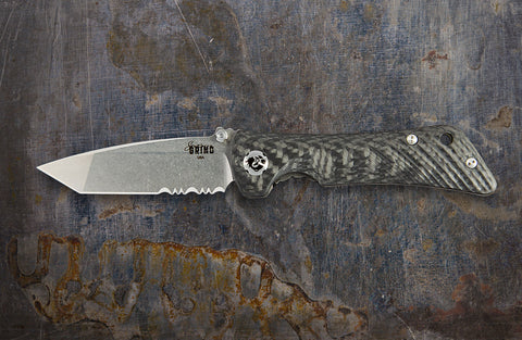 Zac Brown's Southern Grind Spider Monkey Tanto Satin Serrated w/ Carbon Fiber Handle