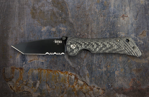 Zac Brown's Southern Grind Spider Monkey Tanto Black Serrated w/ Carbon Fiber Handle