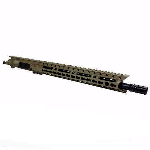 "Upper Assembly 16"" .223/5.56  Elite with 15"" Keymod Rail, Flat Dark Earth-No BCG or CH"
