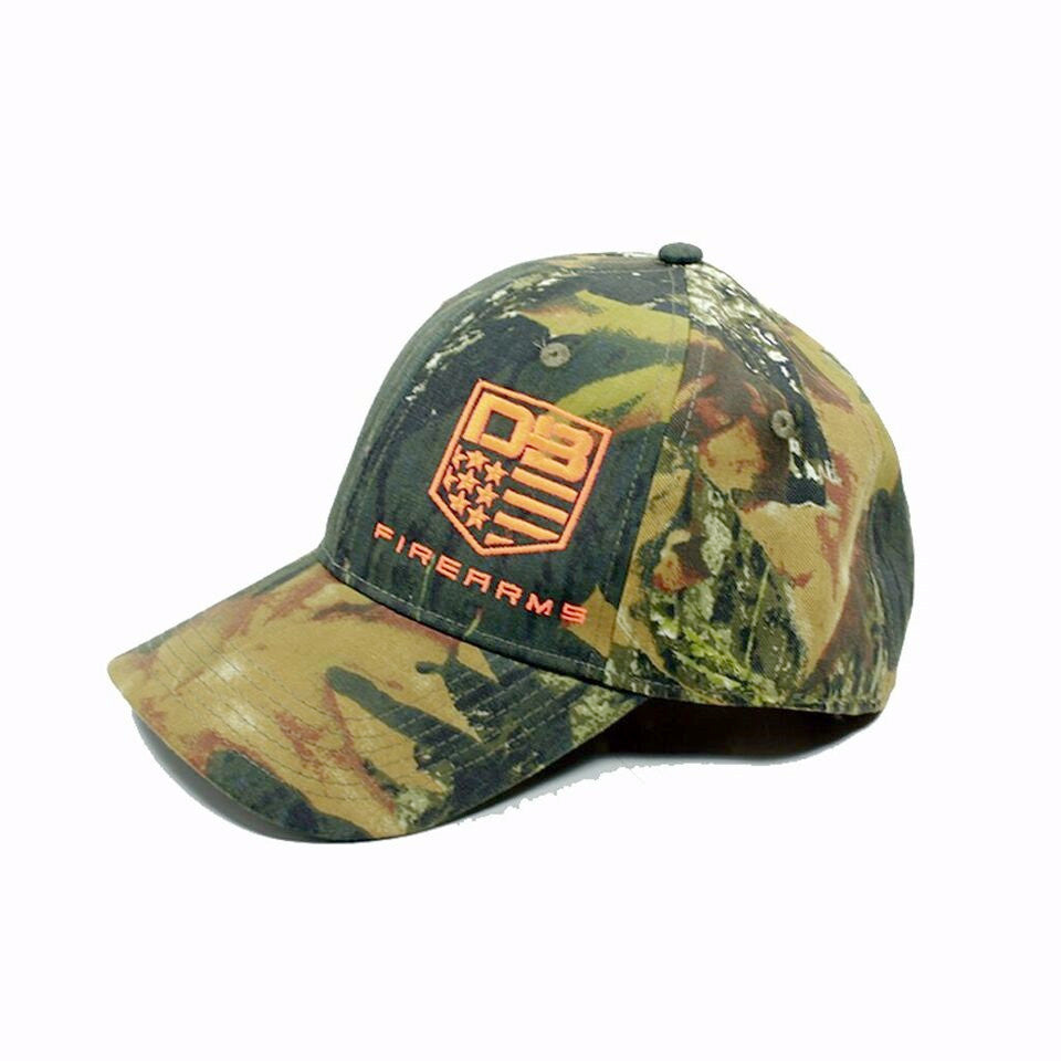 Diamondback Firearms Camo Hat, with Orange Logo