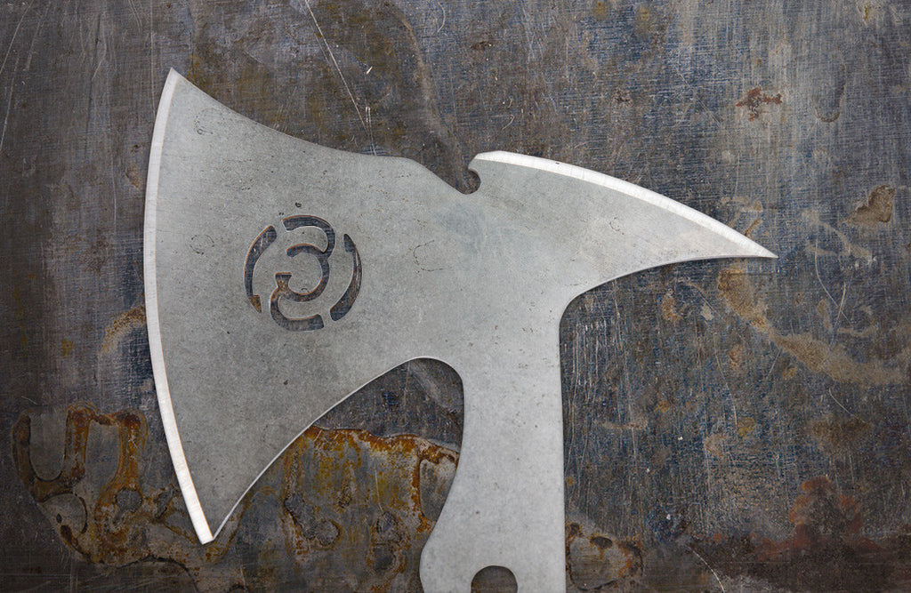 Zac Brown's Southern Grind Wasp Throwing Axe Set w/ Black Kydex Sheath