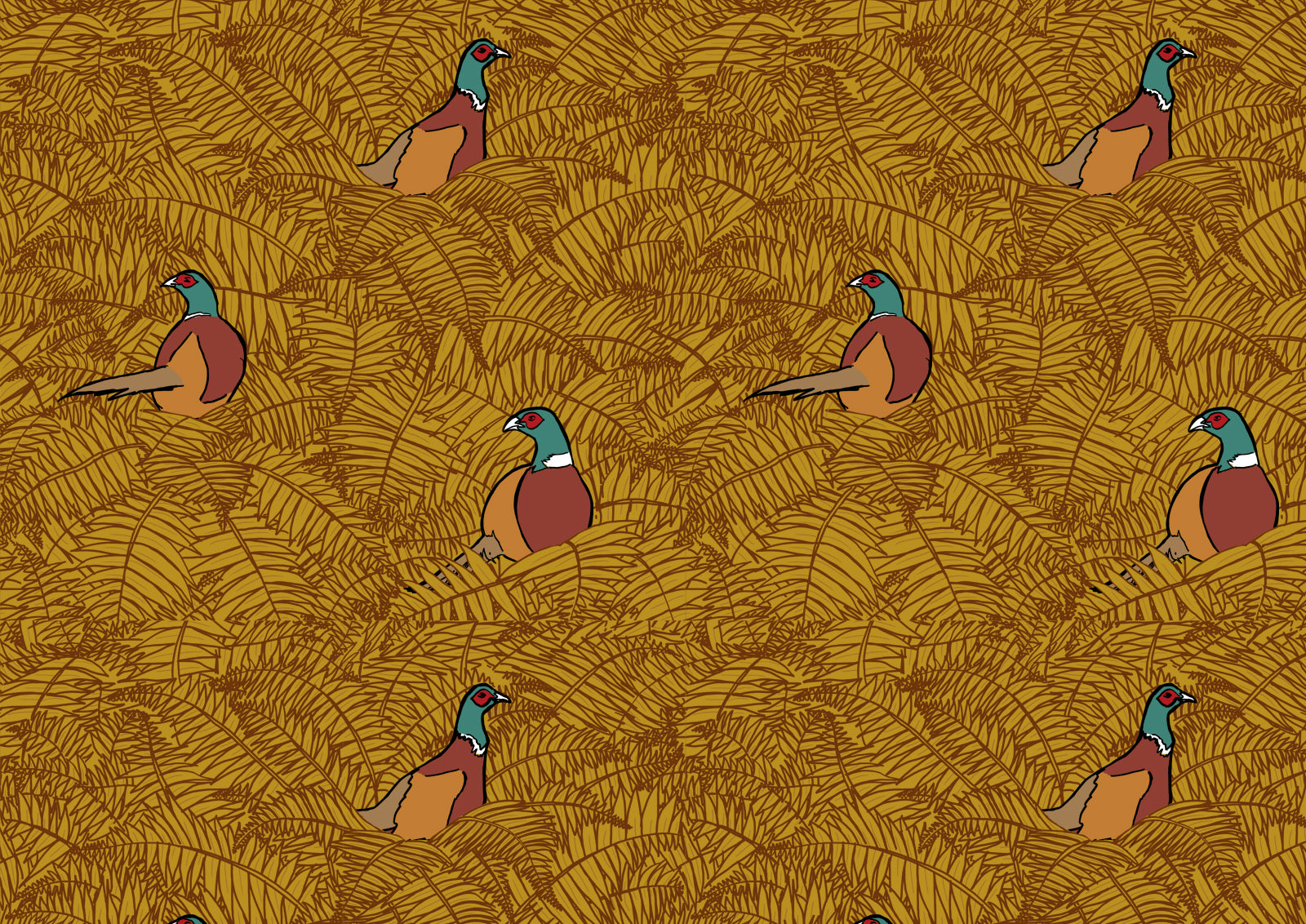 WALLPAPER - PHEASANTS
