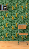 Tiger green bamboo wallpaper veen print