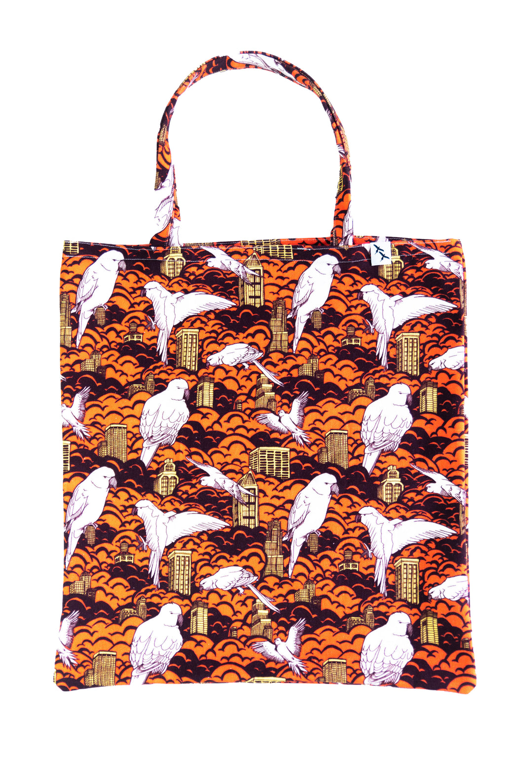 TOTE BAG - BIRDS & BUILDINGS sundown