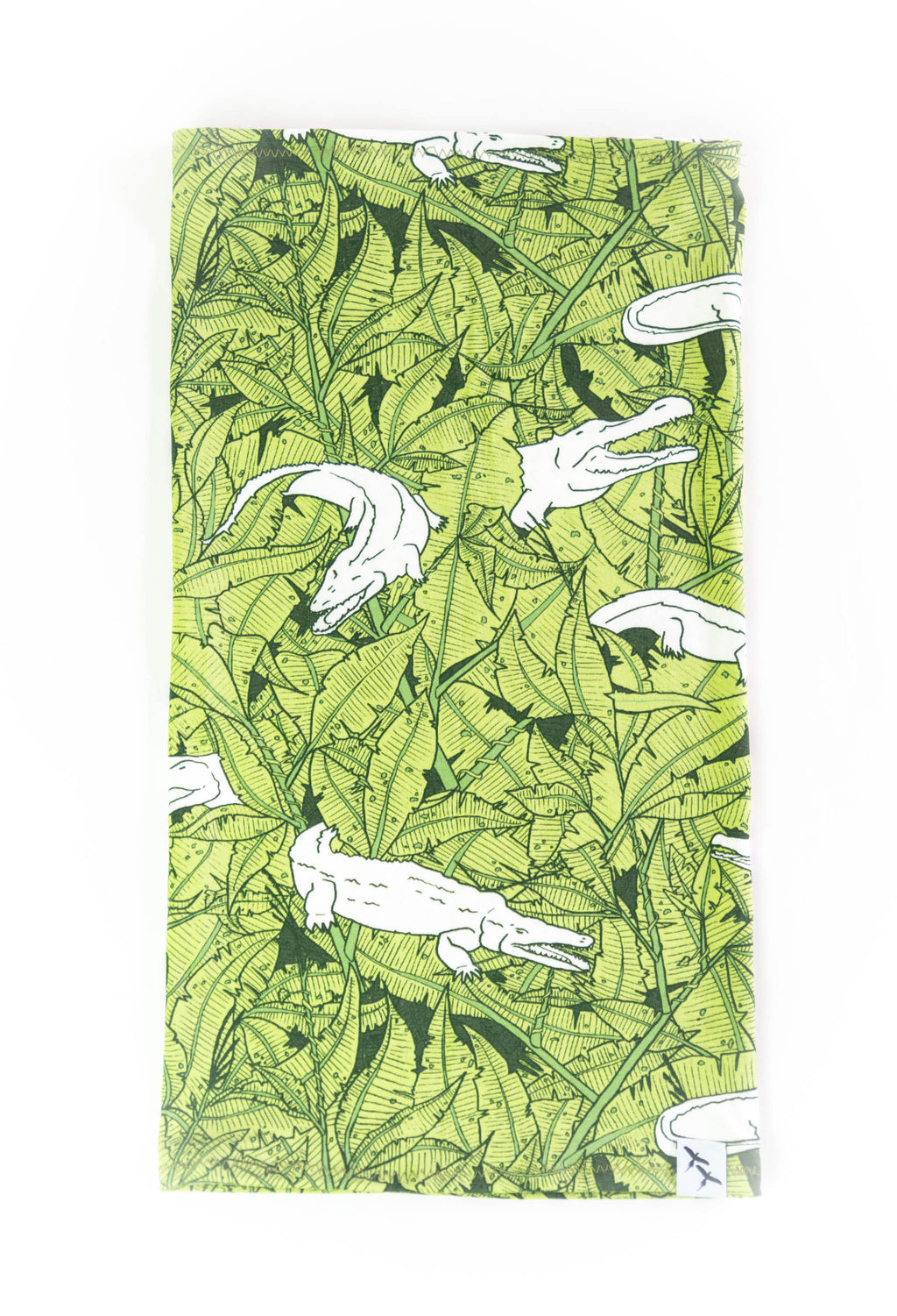 BOEUF SCARF - CROCODILES green
