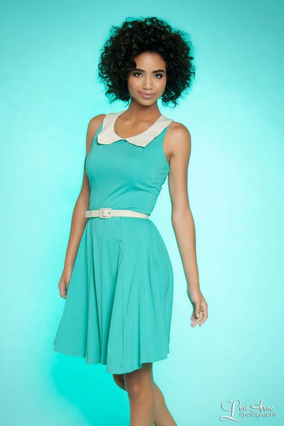 Georgia Peaches Dress in Aqua