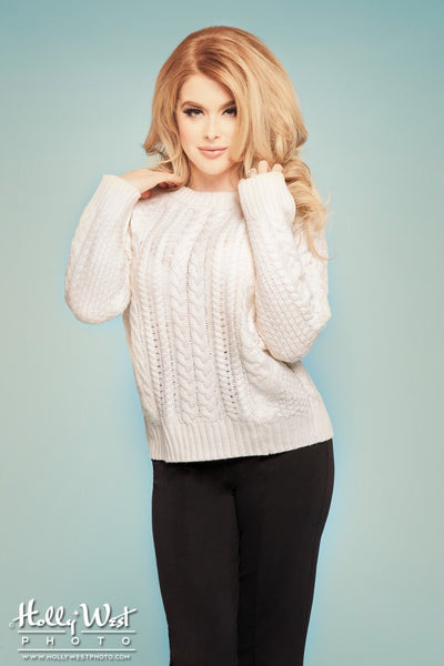 Boxy Knit Sweater in Oatmeal