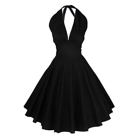 iLover Women's 1950s Vintage Marilyn Monroe Rockabilly large swing Dress